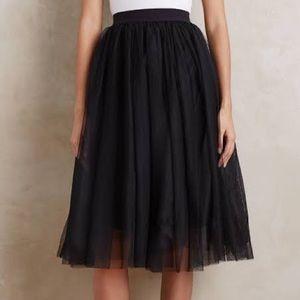 NWT, Black, tulle, midi, skirt!